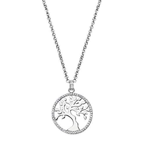 Lotus Colagante árbol de la Vida Plata y circonitas