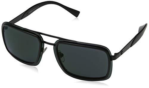 Versace 0VE2183 1009C0 63 zonnebril voor heren, zwart (zwart/donkergrijsmirrorgreen),
