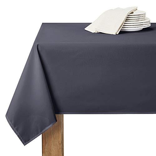 RYB HOME Abwaschbare Tischdecke Grau Weihnachten - 1 Stück H 305 x B 150 cm Tischtuch für Party/Feiern Tischdecke Wasserabweisend/Schmutzabweisend, Eckig