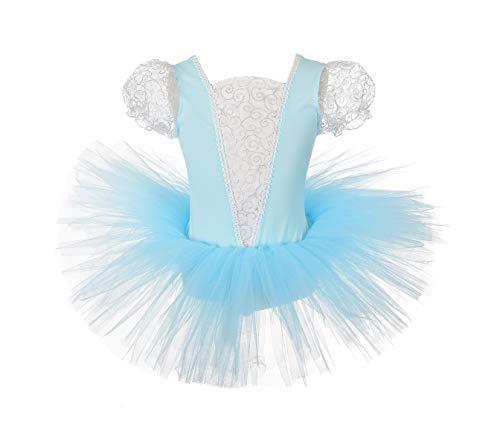 Dressy Daisy Mädchen Prinzessin Cinderella Ballet Tutu Tanz-Kostüm Leotard Kleid Blau 43560