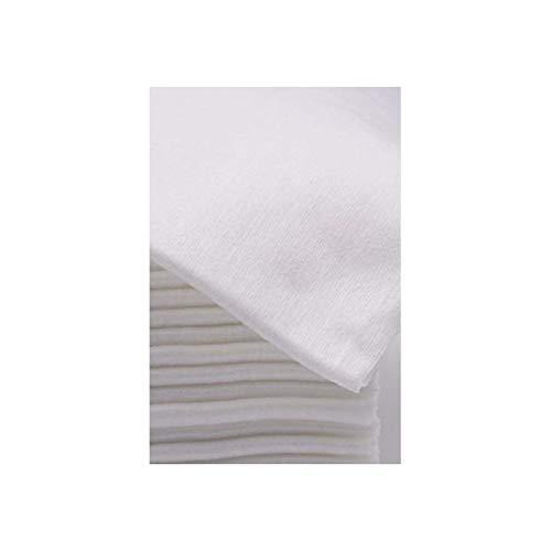 MH COSMETICS Toallas Desechables Spun-Lace 40 * 80 cm, 100 Unds, Peluquería/Estética, Color Blanco