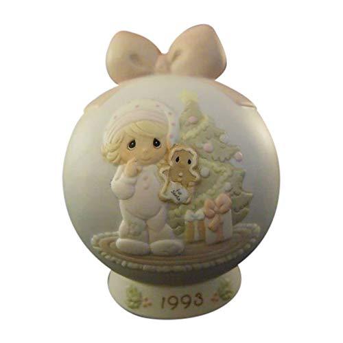 Diseño de ángel con paloma en caso de que Sweetest con recortes ornamentales y brillantes de Navidad 1993 Precious Moments tipo 530190