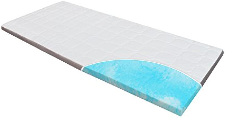 Topper-Matratze-Matratzenauflage, Homedi Ebi - A3 - 180.8 Gel-Schaum-Matratzenauflage Gel-HR-Foam, Bezug-waschbar, Viskose Matratzenauflage, 8 cm hoch, wei (180x200x8cm)