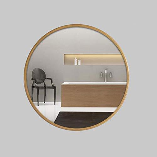 Espejo baño Espejo baño Pared Ronda de metal grande enmarcada Espejo de baño Espejo de montaje de pared de gran tamaño espejo decorativo for dormitorio Pasillo A12051 ( Color : Gold , Size : 80cm )