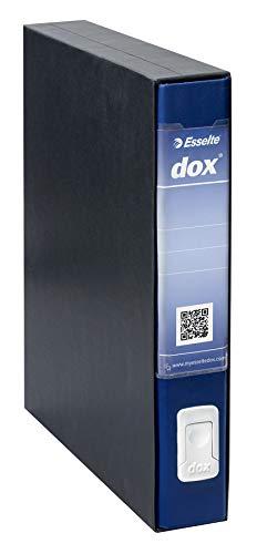 Esselte Dox 4 Raccoglitore a Leva, Formato Commerciale D5, Blu, 1 Pezzo