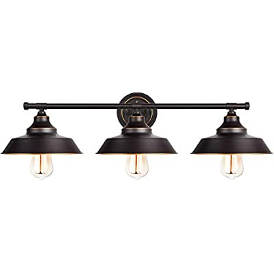 Bathroom Vanity Light Industrial Wall Sconce Bathroom Lighting Fixture Oil Rubbed Bronze Finish with Highlight (3-Light)