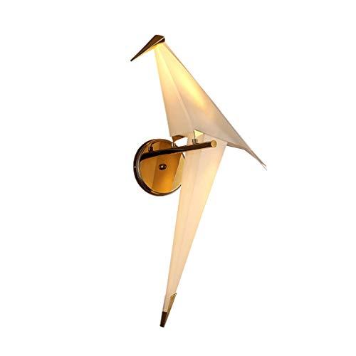 LED de la Lámpara de Pared del Pájaro en Forma de Diseño de la Lámpara Grúa de Origami Lámpara de Pared de Cabecera Por Un Ático Dormitorio de Televisión Vestíbulo Sala 11 × 19.3 Pulgadas Comedor