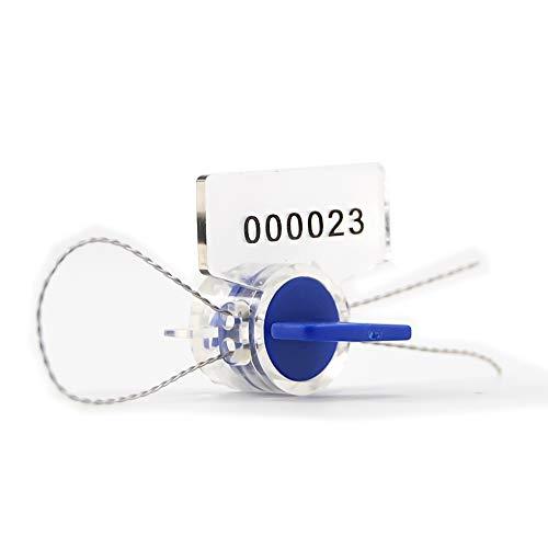 zhengcheng (R) alto eléctrica seguridad utilidad Twist Medidor de plástico (100unidades) con cierre de cobre cables (100m)