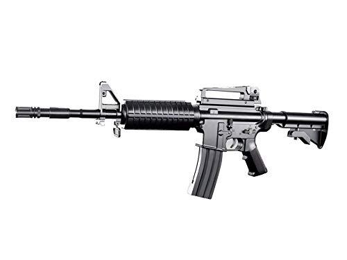 Rayline 8906 Softair Gewehr (Manuell Federdruck), Material: ABS (Stoßfest), Nachbau im Maßstab 1:1, Länge: 83cm, Gewicht: 1150g, Kaliber: 6mm, Farbe: Schwarz - (unter 0,5 Joule - ab 14 Jahre)