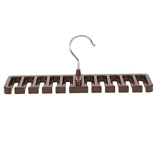 Wardrobe Storage Organiser 3PC Tie Belt Scarf Rack Space Saver Closet Wardrobe Organizer Belt Hanger with Metal Hook Home Storage Racks (Color : Brown)