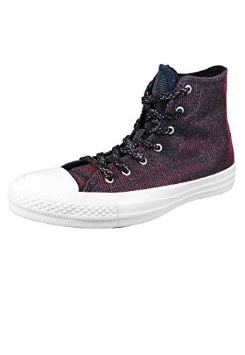 Converse Chucks Grau 564911C Chuck Taylor All Star Starware HI Laser Black Pink Pure Silver, Groesse:40 EU