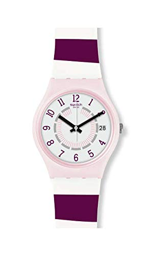 Swatch Unisex Erwachsene Analog Quarz Uhr mit Silikon Armband GP402