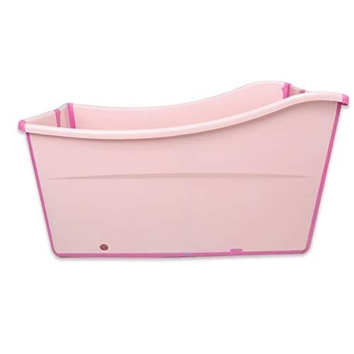 Versione Grande della Vasca da Bagno Pieghevole,Vasca da Bagno Portatile per Adulti Corpo Vasca per Adulti Addensata 2 Colori 98 * 51 * 54 (Colore : Pink)
