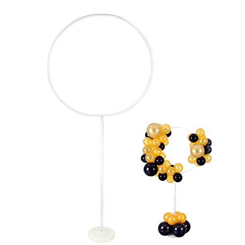 1 Pack Balloon Garland Arch Kit Round Column Floor Stand Holder for Birthday Wedding Valentine's Day Propose Background Party Decoration Supplies