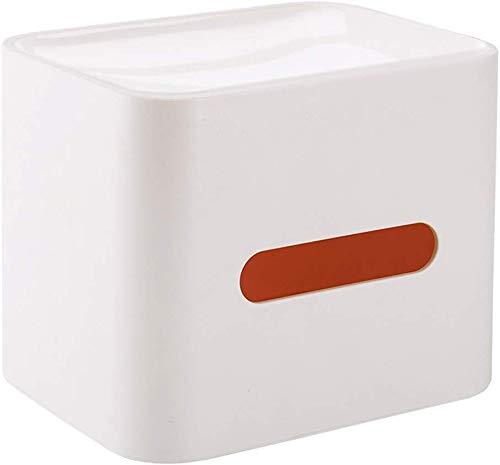 YANGSANJIN Huishoudelijke Tissue Box Cover houder driedimensionale tissuedoos Europese AS + siliconenpapier handdoekhouder servethouder huishouden badkamer rolhouder (kleur: wit, maat: 17x13x14cm)