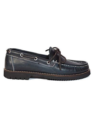 La Valenciana Zapatos para Hombre Fabricados en España de Piel Náuticos Fluchos 156 Marino