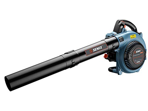 SENIX BL4QL-L 26.5cc 4 Stroke Gas Powered Leaf Blower with Auto-Choke Release, Blue