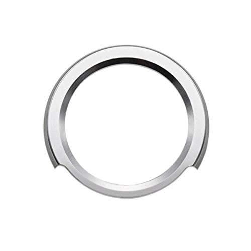 3 colores, cubierta de botón de inicio y parada, aleación de aluminio, protector de anillo de coche, pegatina de cristal, diamantes de imitación, botón de inicio automático, anillo de decoración,Plata