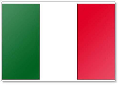 Kühlschrankmagnet mit italienischer Flagge.