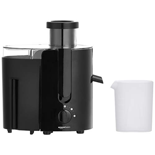 Check Out This AmazonBasics Wide-Mouth, 2-Speed Centrifugal Juicer with Juice Jug and Pulp Container...