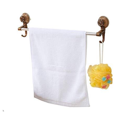 SSHA Toallero Baño de Toalla de baño Barra de una Sola Ventosa Toalla de Toalla de Acero Inoxidable Toalla de baño Toalla Colgante Marrón Toalleros de baño