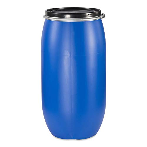 PE Spannring Deckelfass 150 Liter mit UN-X/S Gefahrgutzulassung