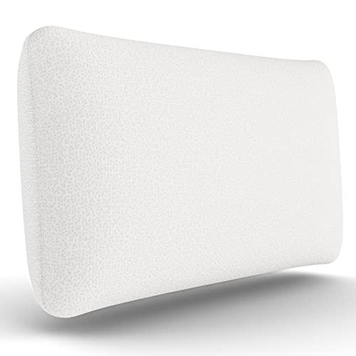 look envy Almohada de Espuma viscoelástica Suave Almohada de Soporte para el Cuello Diseño ergonómico Funda de Almohada Lavable con Cremallera Permanente 70x40x13cm