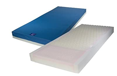 """Drive Medical Gravity 7 Long Term Care Pressure Redistribution Mattress, No Cut Out, 80"""", Blue, Full"""