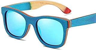 Polarised Sunglasses for Women Men and Women Full Frame Wooden Sunglasses Polarized Bamboo Glasses Multicolor 'u'v' Protec...