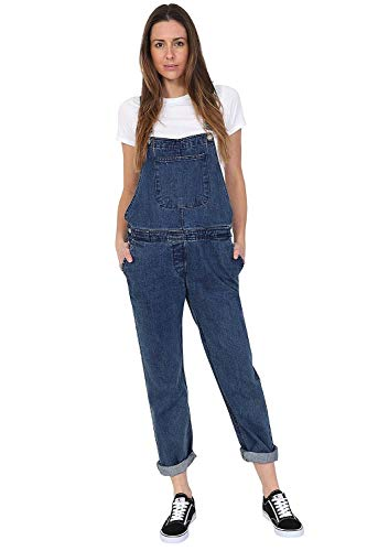 Wash Clothing Company Damen Jeanslatzhose - Stonewash Denim Dungarees Latzjeans Overalls WOMENSBASIC-16