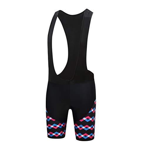 Cycling Bib Shorts Women Bike Bicycle Bib Short with 3D Gel Pad Black L