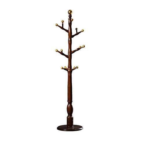Wieszak narożny Drewniany stojak, 14 haczyków, kapelusz żakiet stojak ciężki korytarz korytarz ubrania kapelusz stojak wieszaki podłogowe stojące kapelusz szalik stojak wieszak 40 * 180 cm Stojak podł