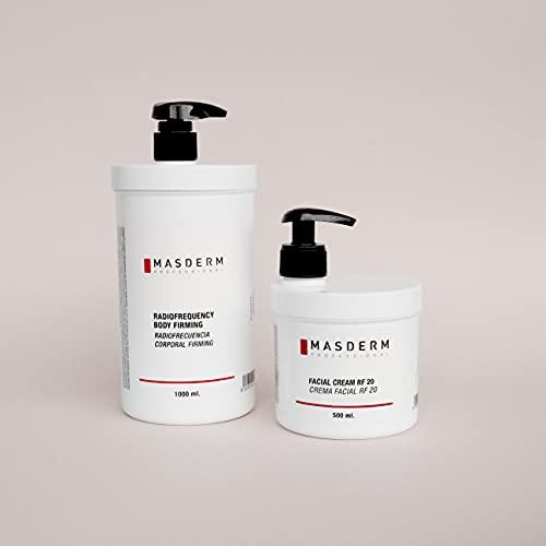 MASDERM | Pack de 2 | Crema Gel Radiofrecuencia Facial y Corporal Hidratante | Crema Gel Conductor Cavitación Antiarrugas | Ácido Hialurónico | Colágeno | Profesional | Mujer | 500ml y 1 L…