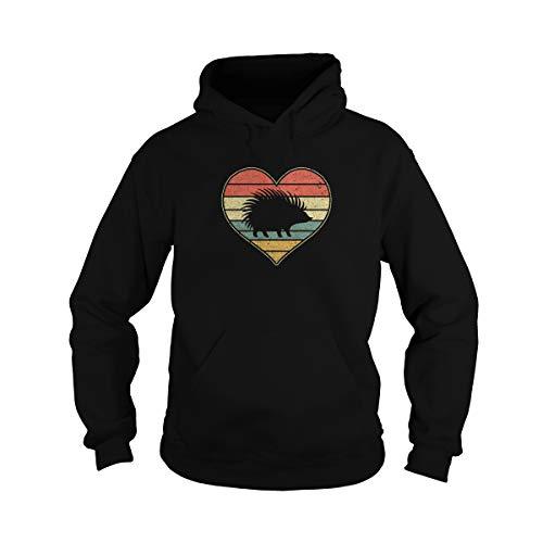 Zoko Apparel Camiseta unisex con diseño de corazón de erizo para San Valentín, Día del Padre