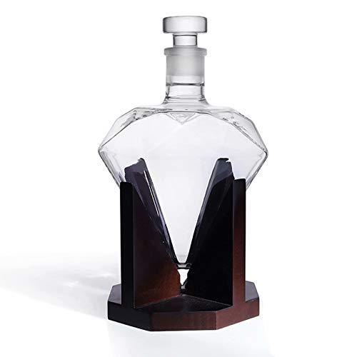 Decantador de whisky - Decantador de 850 ml para licor de whisky, ron, vino, espirituosos, regalo de vino, aireador de vino, accesorios de vino, el regalo más hermoso para amigos