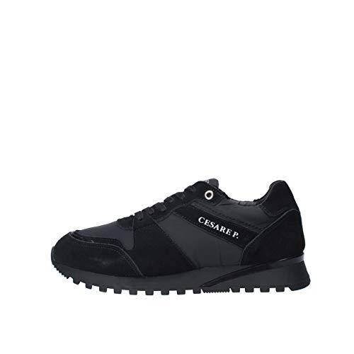 Cesare P. by Paciotti Art.Pitph5501Mri000 Herren-Sneaker, Schwarz, Schwarz - Schwarz  - Größe: 41 EU