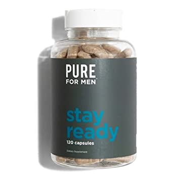 Pure for Men - The Original Vegan Cleanliness Fiber Supplement - Proven Proprietary Formula  120 Capsules with Aloe