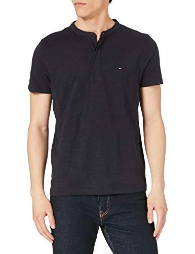 Tommy Hilfiger Herren SLUB SS Henley T-Shirt, Wüstenhimmel, L