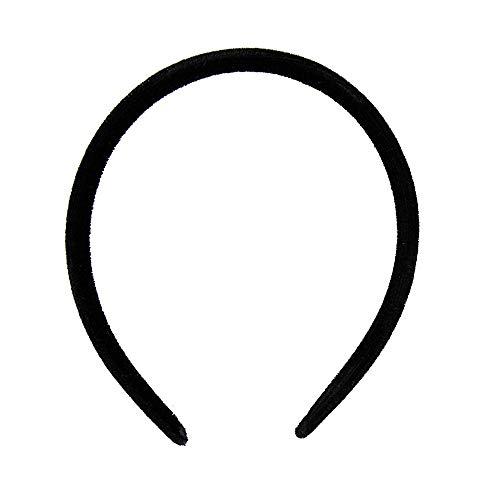 Serre-tête Alice de 1 cm de large en velours noir