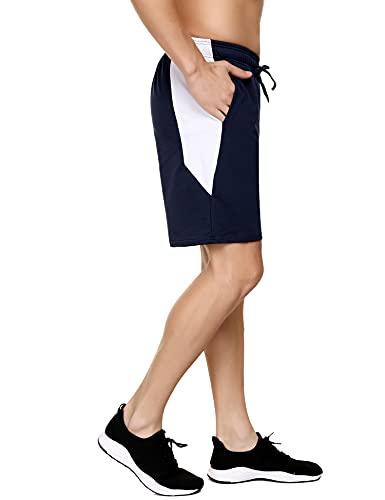 Doaraha Pantaloncini Uomo, Pantaloncini Uomo Sportivi Estivi Pantaloni Jogging Uomo Pantaloncini Uomo Pantaloncini Uomo Running per Corsa Fitness Pallacanestro Calcio Blu Navy XL