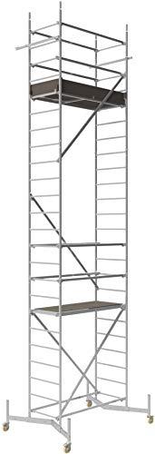 ALTEC Rollfix 700, Arbeitshöhe 7 m neu, inkl. teleskopierbarer Traversen, Rollen (Ø 125 mm) und Wandanker, TÜV-geprüft,