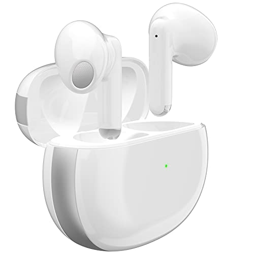 Wireless Earbuds Bluetooth 5.2 Headphones with Noise Reduction Built in Mic Earpods IPX6 Waterproof Headset with Charging Case Air Buds in-Ear Ear Buds Stereo Earphones for iPhone/Android