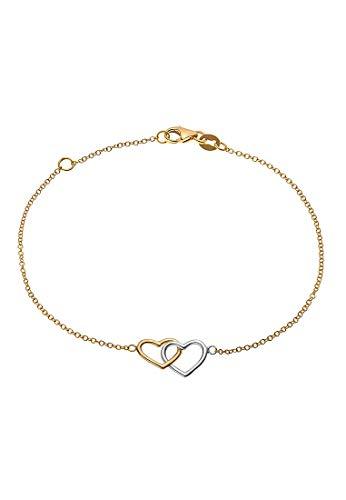 CHRIST Gold Damen-Armband 375er Gelbgold, 375er Weißgold One Size 87377741