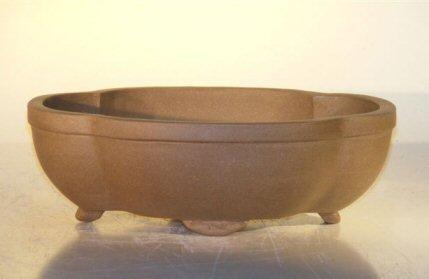 Bonsai Boy's Tan Unglazed Ceramic Bonsai Pot - Oval 6 5 x 4 5 x 2 125