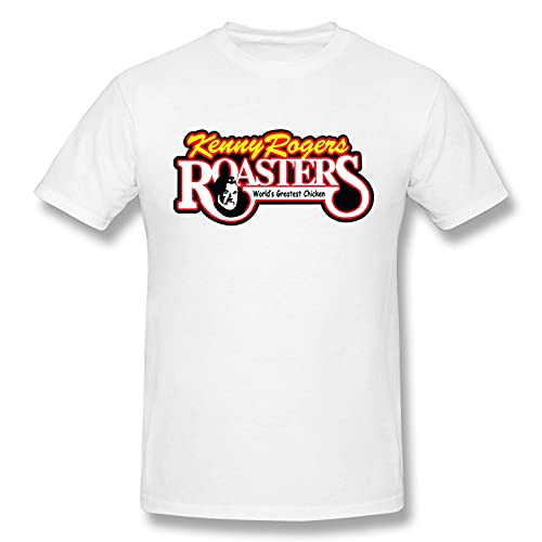 COOTHING Kenny Rogers Logo Men Comfortable Simple Printed Basic Light Weight White Tees
