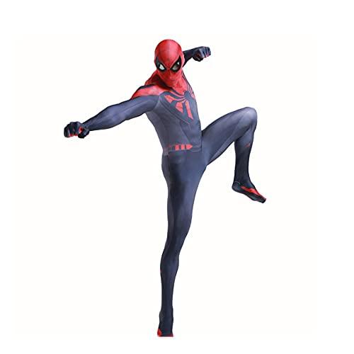 MYYLY Spiderman Costumi Halloween Avengers Cosplay Tuta Gioco PS4 Guerra Segreta Spandex Lycra Stampa 3D Tute Monopezzo Costume per Regalo di Compleanno Festa,Red-M Adult(150~165cm)