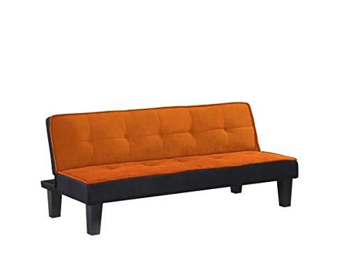 ACME Hamar Adjustable Sofa - 57029 - Orange Flannel Fabric