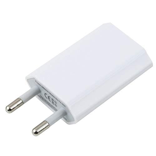 Diseño de Placa de Circuito Patentado portátil Adaptador de Cargador de Pared para el hogar del teléfono móvil USB para iPhone 3G 3GS 4 4S Enchufe de la UE - Blanco