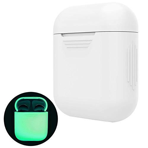 CoWalkers Funda para Airpods,Estuche AirPods Case Silicona Protector Airpods compatibles con el Estuche de Carga Apple Airpods Accesorios (Luminous)