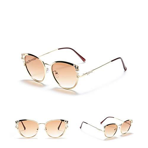 SXRAI Gafas de Sol de Moda para Mujer con Montura de Gran tamaño, Gafas de Sol Uv400,C1